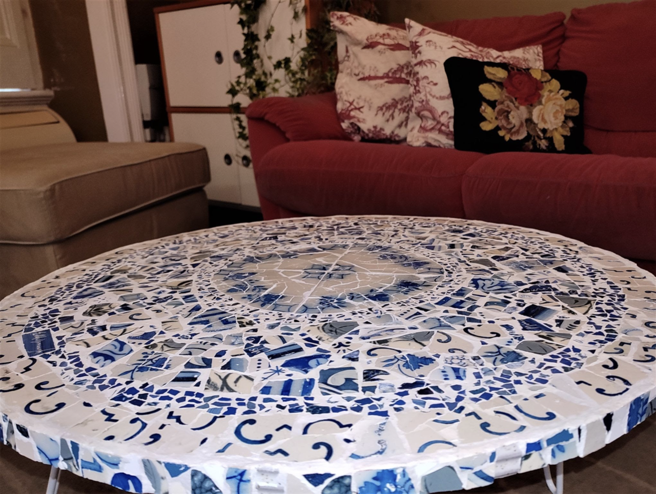 Picture of A visit to Lisbon (Traditional Portuguese tile table in Mosaic)