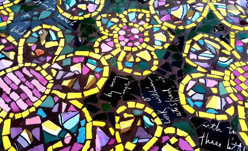 Picture of Bold Floral Mosaic Table Top